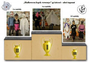 Halloween legek győztesei alsó tagozat