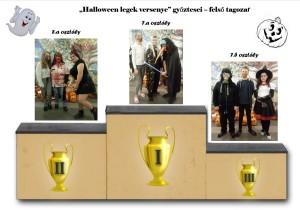 Halloween legek győztesei felső tagozat